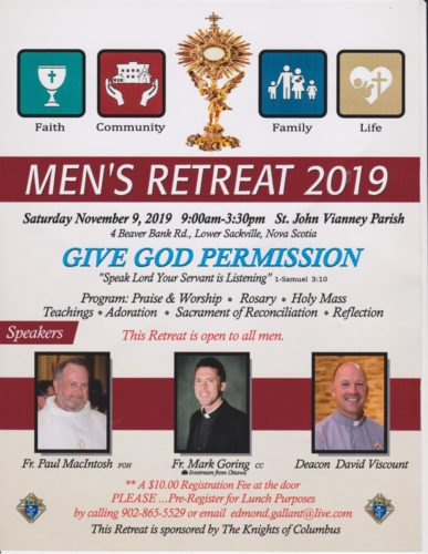 Men's Retreat @ St John Vianney Church
